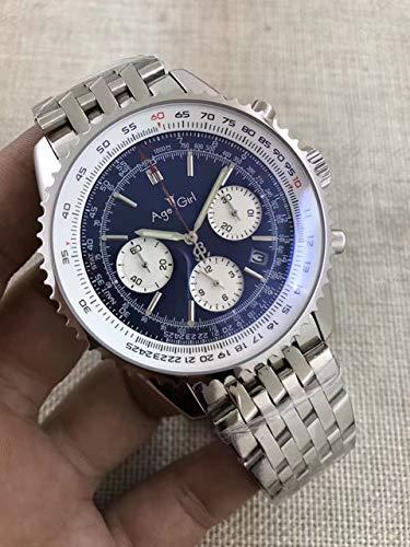 WAVFCSE Automatik Chronometer Automatik Herren Chronometer Schwarz Blau Leder Datum Edelstahl Saphir Uhren AAA + 2