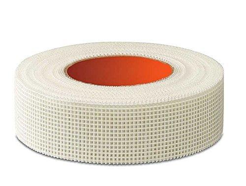 Glasfaser-Gewebeband selbstklebend 50 mm x 90m, PROFI PRODUKT Gitterrißbrücke,für Gipskartonplatten, Sanierungsband für Risse und Löcher