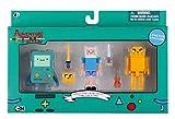 Adventure Time 14609 – Pack de Figuras Collector Pixel de BMO, Finn, Jake con Accesorios, 7 cm