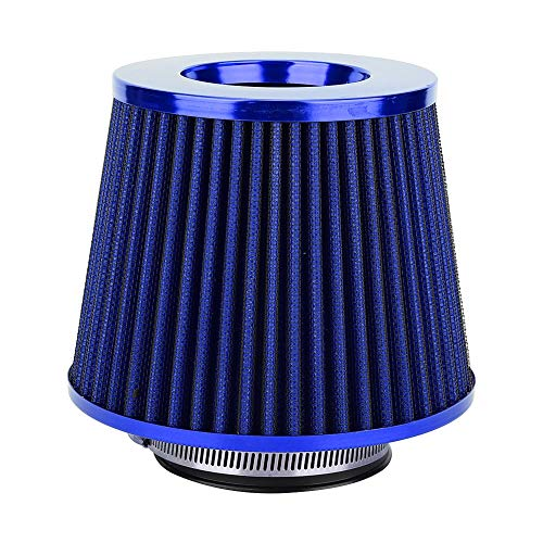 Kit de filtro de aire del coche - filtro aire alto flujo Estructura Hon-eycomb 63 mm Diámetro múltiple Cabeza de hon-go Flujo alto Baja resistencia Universal(Azul)