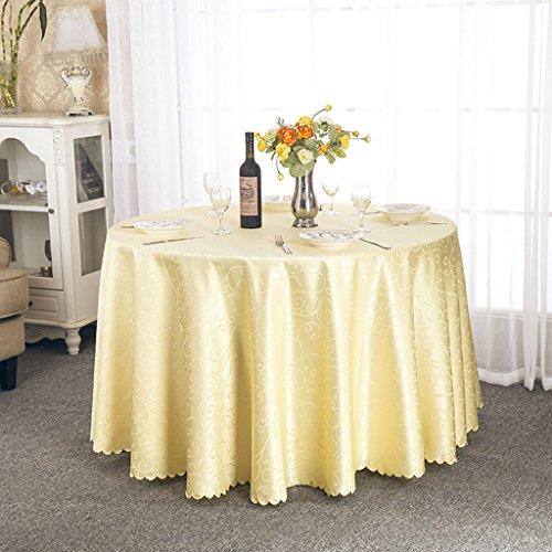 Nappes Nappe ronde, Restaurant de l'hôtel Table basse Table à manger Nappe à la table ronde Salon de la salle à exposer Nappe or / blanc ( Couleur : Or , taille : Round-300cm )