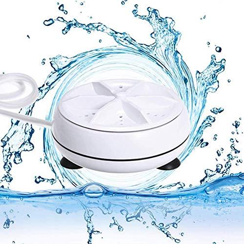 None/Brand Mini Laveuse à Ultrasons Turbo Laveuse et Lave-Vaisselle Laveuse Baignoire à Ultrasons Portable pour la Lessive Personnelle et Laver Les Légumes Vaisselle Sale