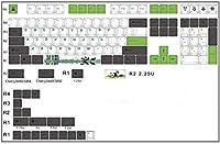 キーキャップフォレストエルフ/KOI/PANDAチェリープロファイルキーキャップ染料-昇華厚いPBTキーキャップMXスイッチメカニカルキーボードキーキャップ (パンダ)