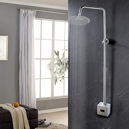 Wasserhahn Badezimmer Automatische Dusche Set Infrarot-Dusche Hände Touchless Free Wasserhahn Sensor TapInduktive Elektrische Dusche Wasserhahn Mixer Set @ Square_Shower_Set