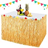 EXTSUD Hawaii Tischröcke 300cm Lange Hawaii Luau Tischrock Tischdeko Party Deko Tischdecke für...