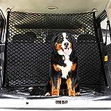 Dog Car Barrier, Car Pet Safety Barrier Net with Double Layer, Adjustable Practical Pet Separation Net Fence Safety Vehicle Barrier Pet Restraint for SUV Vans Trucks