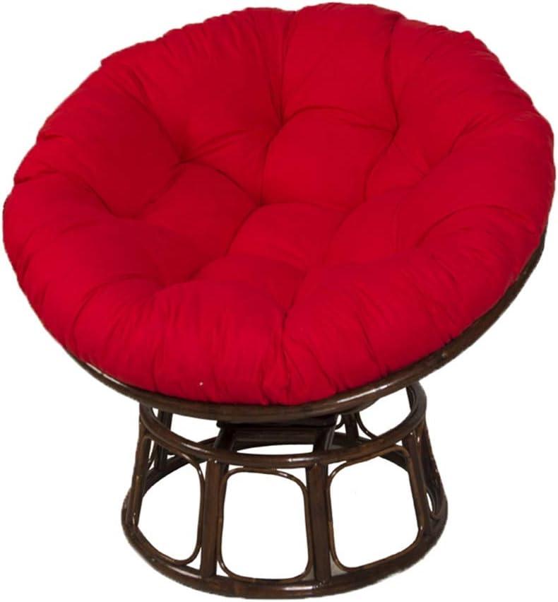Cojines para El Suelo O Cojin Redondo Cojín de Asiento de Patio Papasan Cojín de Silla de Exterior Almohadillas para Silla de Hamaca,Rojo,120x120cm