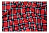 Fabrics-City % ROT ORIGINAL SCHOTTENKARO STOFF TARTAN