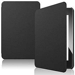 IVSO Funda Carcasa para Nuevo Kindle Paperwhite 2018, Slim PU Protectora Carcasa Cover para Amazon Kindle Paperwhite (10th Generation, 2018 Release), Negro