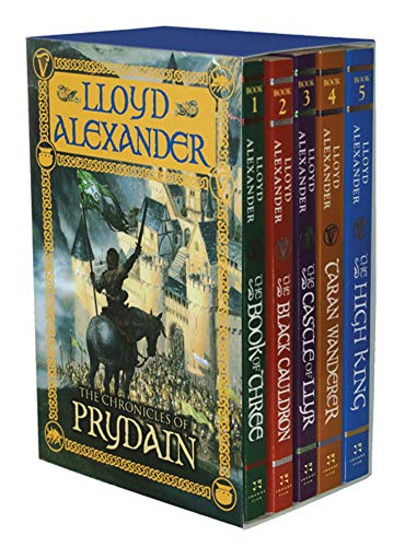 The Chronicles of Prydain: Complete 5 Vol Set; 1 Book of Three, 2 Black Cauldron, 3 Castle of Llyr, 4 Taran Wanderer, 5 High King