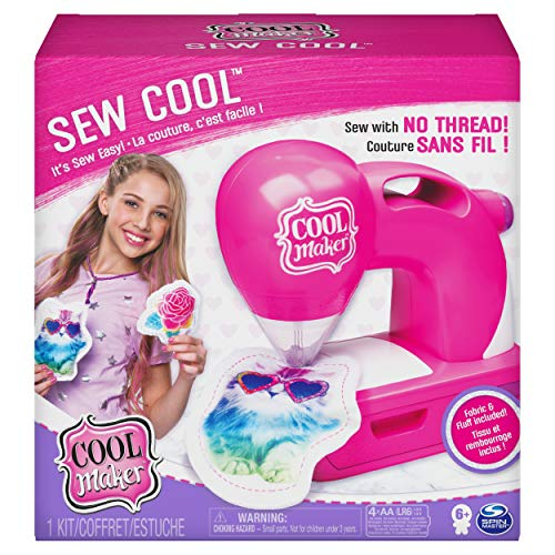 Cool Maker, Sew Cool Sewing Machine with 5 Trendy Projects and Fabric, for Kids 6 Aged and up