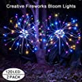 Outdoor Solar Garden Decorative Lights-Mopha Solar 105LED Powered 35Copper Wiress Stake String Landscape Light-DIY Flowers Fireworks Trees for Walkway Patio,Christmas Party Decor