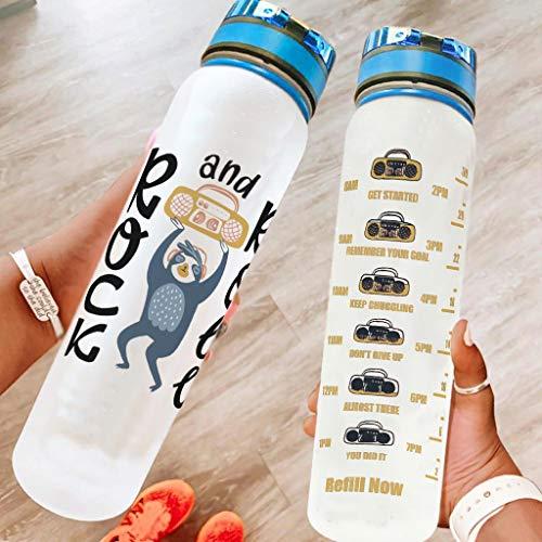 superyu Botella deportiva Flip Top Clear Bike botella de agua para Camping blanco 1000ml