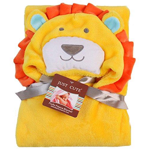 Bazaar Flanelle Enfants Enfants Serviette de Bain Fournitures Lion Ours Plage Natation Capuche Flanelle Couverture