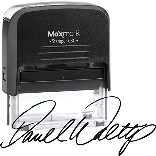 Custom Signature Stamp - Medium Size Self-Inking Stamp Customized with Your Signature
