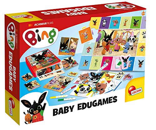 Lisciani Bing EDUGAMES-Maxi Collecciòn de Juegos Educativos 84418, Multicolor