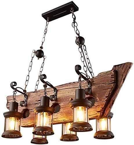 Standmixer Kronleuchter Kronleuchter Deckenleuchte Retro Industrie hängende Beleuchtung Eisen 6-Kopf-Licht Fixture