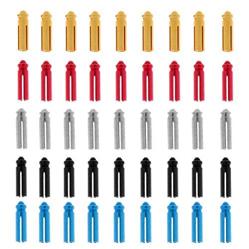 Gazechimp Jede Farbe Von 9 Stück - 5 Farben 45 Stück Eloxiert Aluminium Dart Flyschutz - Dart Flightschutz