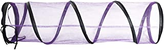 Sendk Cat Mesh Tunnel Toy, Folded Outdoor Cat Tunnel Tent Playground, Zipper Design, Spliceable Lengthening, Blue