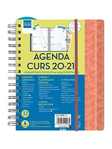 Finocam - Agenda Docente 2020-2021 Cuarto - 155x212 Semana Vista Apaisada Magistral Hexa Coral Catalán