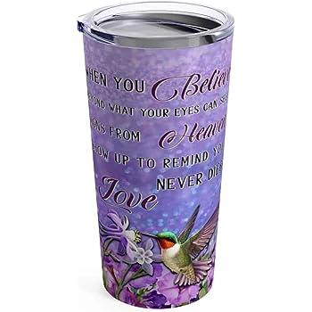 Hummingbirds Art Plates 726-ZIE Mugzie brand 16-Ounce Travel Mug with Insulated Wetsuit Cover
