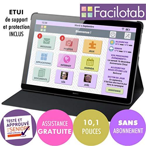 FACILOTAB Tablette L Rubis avec étui - WiFi - 32 Go -...