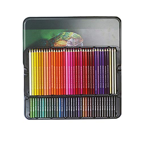 KunLS lapices de Colores de Madera Colores acuarelables Lápices de Color Adulto para Colorear lápices Lápices para Colorear para Adultos