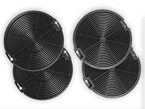 4055093712/942492436 - Aktivkohlefilter - Ersatz-Filter für Dunstabzugshauben - für AEG-Elektrolux EFF75, EFC60151, EFC90151, EFG50022, EFG7390, EFG750, EFP50637, EFP6500, EFP6500, EFP9500-4 Stück