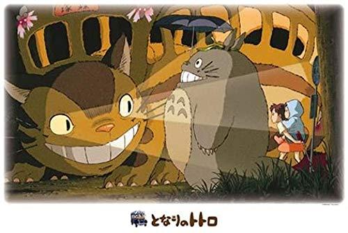 WOMGD® Cartoon Anime Legpuzzels 1000 stukjes, Houten puzzels, Groot puzzelspel Leuk speelgoed Kinderen cadeau- Mijn buurman Totoro