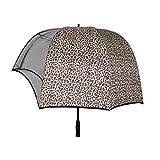 wuhuarou ombrello a cupola a forma di casco antivento, cappello ombrello coppia ombrellone a cupola, casco vibrante cappello inverso ombrello da golf trasparente (color : brown)