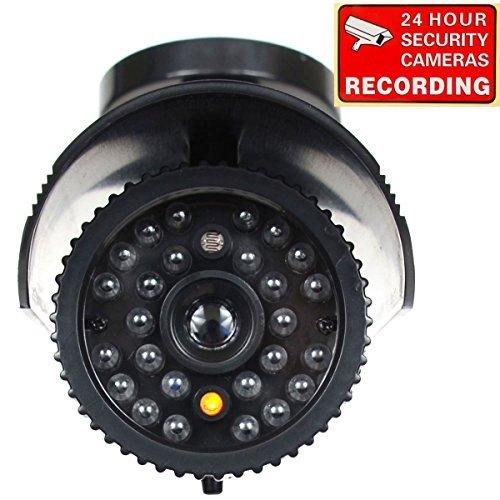VideoSecu Fake Dummy Security Camera CCTV Home Surveillance IR Infrared Fake Bullet Camera with Flashing Light 1RE
