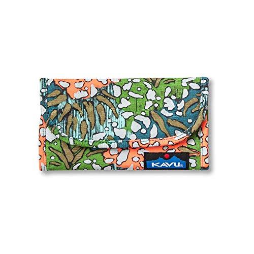 KAVU Big Spender Tri-fold Wallet Travel Clutch -Floral Flare