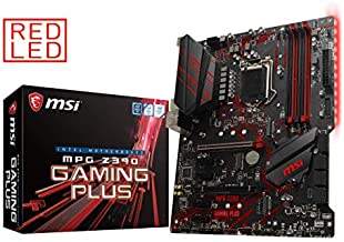 MSI MPG Z390 Gaming Plus LGA1151 (Intel 8th and 9th Gen) M.2 USB 3.1 Gen 2 DDR4 HDMI DVI CFX ATX Z390 Gaming Motherboard (Renewed)