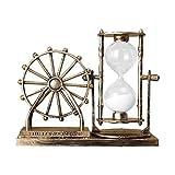 MagiDeal Reloj de Arena Reloj de Arena Temporizador para habitación Cocina Oficina Decoración-Herramienta de gestión del Tiempo - Oro
