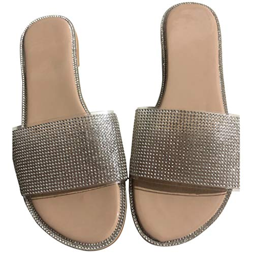 Zapatillas de Baño para el Hogar Mujeres Zapatos De Piscina Chanclas De Playa para Mujer Zapatillas De Estar por Casa De Mujer Verano Baño Cristal Playa Chanclas Sandalias