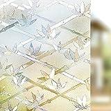 LMKJ Película de Vidrio Laminado electrostático PVC bambú protección de la privacidad decoración Anti-Ultravioleta Etiqueta de Ventana Reutilizable esmerilada A54 50x200cm