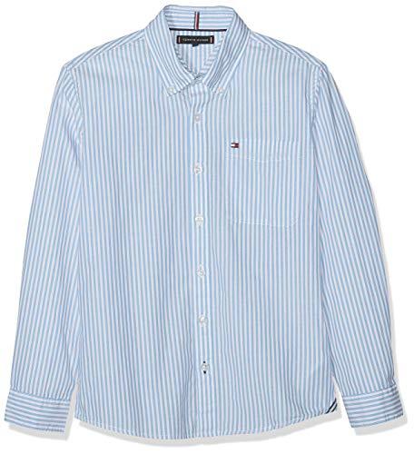 Tommy Hilfiger Essential Stripe Shirt L/s Camisa, Azul (Blue 0A5), Talla única (Talla del Fabricante: 80) para Niños