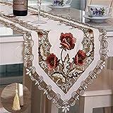 Nvfshreu Tischläufer Moderner Minimalistischer Polyester Bestickte Tischflagge Kaffeetischflaggen Dekorationshauptgewebe Rosa 40 Einfacher Stil * 176 (Color : Rost Rot, Size : 40 * 150Cm)