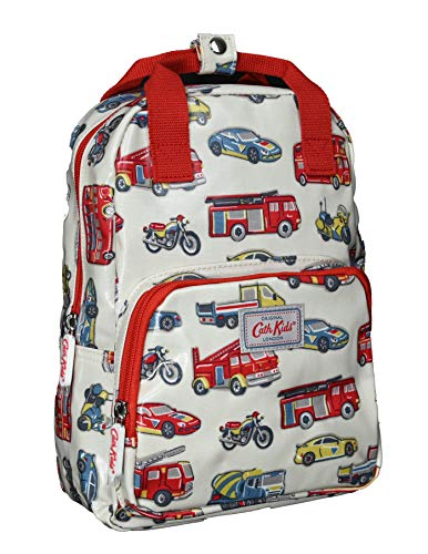 Cath Kidston Medium Rucksack Backpack Toy Traffic in Light Stone Oilcloth
