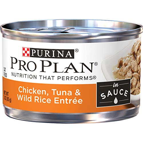 Purina Pro Plan Wet Cat Food, Chicken, Tuna & Wild Rice Entree in Sauce - (24) 3 oz. Pull-Top Cans