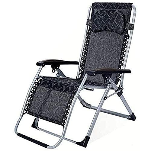 TabloKanvas Tumbona plegable, tumbona reclinable con gravedad cero, sillón reclinable multiposición, para exteriores, jardín, patio, terraza, (color: C, tamaño: 73 x 15 x 98 cm)