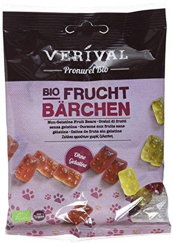 Verival Fruchtbärchen ohne Gelatine - Bio, 10er Pack (10 x 100 g Beutel) - Bio