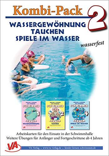 Kombi-Pack 2: Wassergewöhnung, Tauchen & Spiele, wasserfest: Schwimmen lernen (Lehrer-/Trainer-Kartensatz laminiert: Arbeitskarten für den Schwimmunterricht)