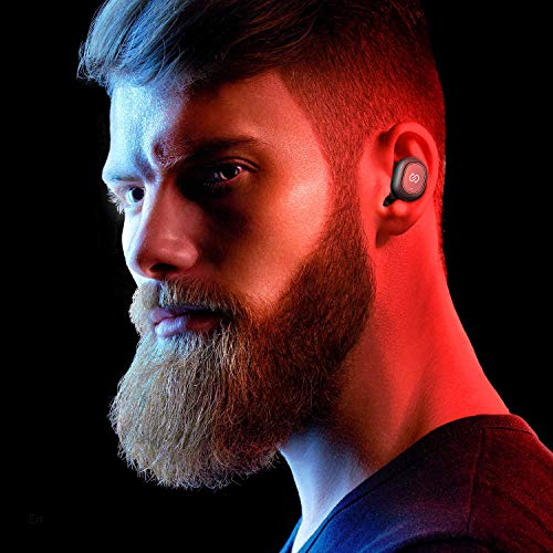 SoundPEATS True Wireless Earbuds 5.0 Bluetooth Headphones in-Ear Stereo Wireless Earphones with Microphone Binaural Calls, One-Step Pairing, Total 35 Hours, Upgraded TrueFree Plus