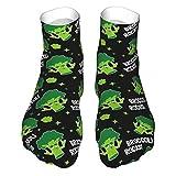 Lustige vegane Geschenke - Brokkoli Rocks! Erwachsene Socken Low-Cut Socken Freizeitsocken Atmungsaktive Sportsocken Unisex 30cm