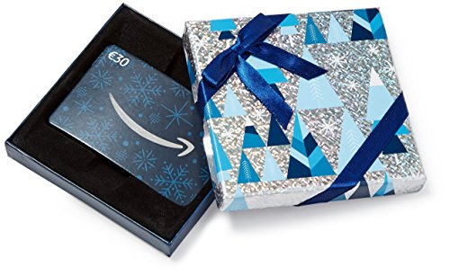 Amazon.de Geschenkkarte in Geschenkbox - 30 EUR (Blau und Silber)