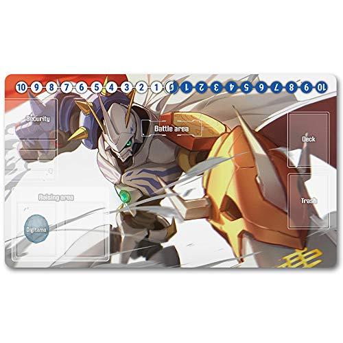MPL Brettspiel Digimon Spielmatte, Digimon Spielmatte, Brettspiel Digimon, Mauspad, Größe 60X35 cm geeignet für TCG CCG Yugioh Digimon