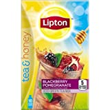 Lipton Tea and Honey Blackberry Pomegranate Iced Green Tea To Go Packets, 10 ct (2 Pack)