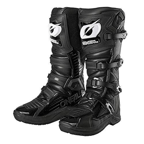 O'NEAL | Motocross-Stiefel | Enduro Motorrad | Anti-Rutsch Außensohle für maximalen Grip, Ergonomisch geformter Fersenbereich, Perforiertes Innenfutter | RMX Boot EU | Erwachsene | Schwarz | Größe 43