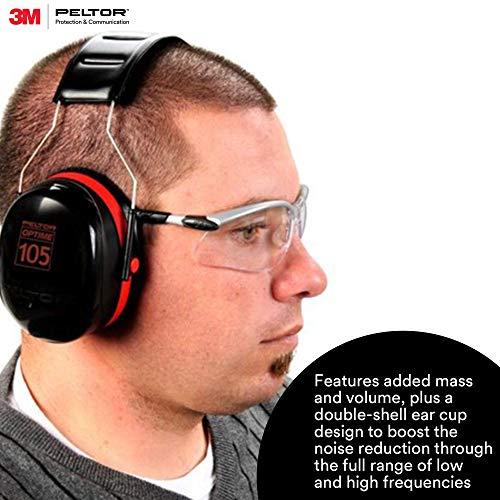3M - 93045081018 PELTOR Optime 105 Earmuffs H10A, Over-the-Head